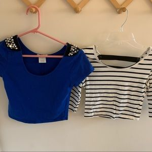 BUNDLE Set of 2 Crop Tops!